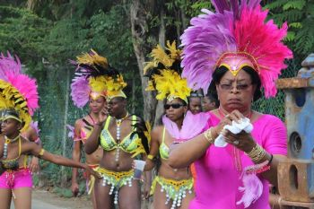One of the troupes in the VG Easter Festival Parade in 2013. Bishop John I. Cline said a carnival like atmosphere during the holy week of Easter does not fit in with the Christian nature of Virgin Gorda. Photo: VINO/File