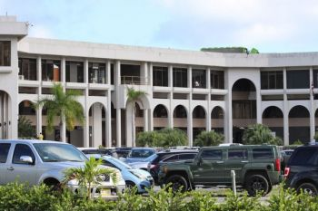 Central Administration Complex: In a statement delivered at the continuation of the 6th Sitting of the First Session of the Fourth House of Assembly of the Virgin Islands on September 2, 2019, Premier nd Minister of Finance Hon Andrew A. Fahie (R1) suggested that the Governor is seeking to infiltrate his 'unconventional' Government and the Governor's unprecedented move to usurp his powers regarding the Permanent Secretary appointments is a strategic move to achieve that agenda. Photo: VINO