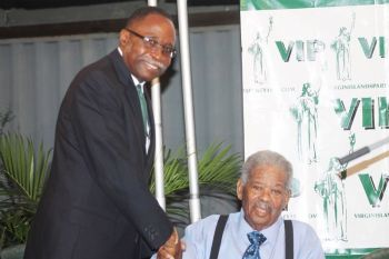 Honourable Ralph T. O'Neal OBE, the outgoing Ninth District Representative, came to the defense of Chairman of the Virgin Islands Party and Premier in waiting Honourable Julian Fraser RA (R3) on many occasions as the National Democratic Party attempted to paint Hon Fraser as an 'undesirable' leader. Photo: VINO/File