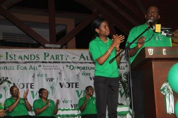 During the campaign trail, Ms Sharie B. de Castro was hailed by senior Virgin Islands Party member Hon Andrew A. Fahie (R1) as one of the brightest young minds in the territory and who has a genuine desire to make a contribution to the development of the Virgin Islands. Photo: VINO
