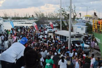 A large crowd at Setting Point for the 2017 Anegada Lobster Festival. The popular Anegada Lobster Festival and BVI Food Fete were among the major events during the tenure of BVI Tourist Board Director, Mrs Sharon P. Flax-Brutus. Photo: VINO/File