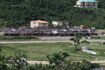 The grandstands at Ellis Thomas Downs in Sea Cows Bay were destroyed by hurricanes Irma and Maria in September. The running surface and stables were also damaged. Photo: VINO/File