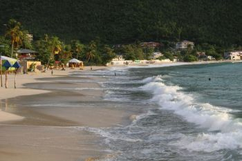 The Cane Garden Bay Beach was closed due to high levels of bacteria found in the water following the passage of Tropical Storm Karen on September 24, 2019. Photo: VINO/File
