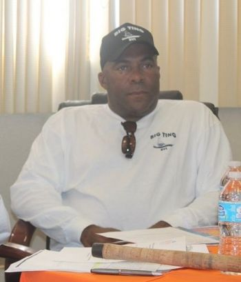 Public Relations Officer of the BVI Sports Fishing Association, Mr Donnell D. A. Flax said members were concerned about Dr Hubert O'Neal running for a seat in the House of Assembly while president of the association and decided to relieve him of his position through a voting process. Photo: VINO
