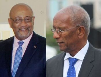 Second District Representative Hon Melvin M. Turbull has publicly told Premier and Minister of Finance Dr The Honourable Smith (AL), right, that Minister for Health and Social Development and former Finance Minister, Honourable Ronnie W. Skelton (AL), left, should be handed back the portfolio of Minister of Finance. Photo: VINO/File