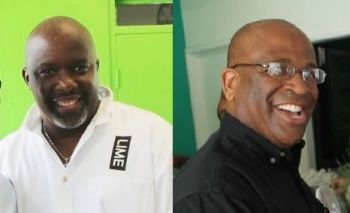 Former LIME BVI CEO Sean L. Auguste (left) and former Head of Business Sales and Services at LIME BVI Ken Guiste. Photo: VINO/File