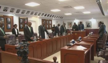 """""""The overall lack of participation by Opposition members in the debate and absence from the chamber during the vote is an important issue and cannot go unnoticed, nor should it be forgotten,"""" Premier Andew A. Fahie said in a statement forwarded to Virgin Islands News Online (VINO). Photo: Youtube"""