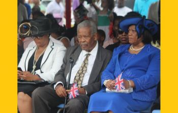 Former Premier Hon Ralph T. O'Neal OBE (seen here flanked by his youngest daughter Abby O'Neal, left, and wife Reverend Edris O'Neal OBE at the Queen's Birthday Parade in April 2016. Photo: VINO/File