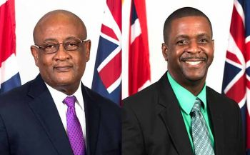 Currently, Hon Andrew A. Fahie (R1) (right) is the Leader of the Opposition but PVIM Party Chairman Hon Ronnie W. Skelton (AL) could potentially replace him. Photo: GIS