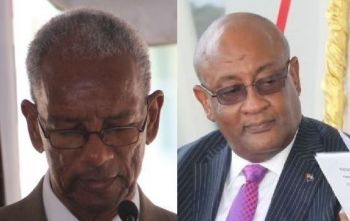 Former legislator and NDP supporter Mrs Eileene L. Parsons OBE had suggested that Premier Dr The Hon D. Orlando Smith (left) is not doing a good job as the Finance Minister and has recommended that the ministry be given to Hon Ronnie W. Skelton (right), the current Minister for Health and Social Development. Photo: VINO/File