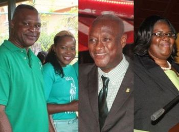 VIP district candidates at the just concluded general elections (from left), Elvis J. Harrigan, Zoe J. Walcott-McMillan, Elton L. Sprauve and Oleanvine Pickering-Maynard have reportedly signed a letter endorsing Hon Andrew A. Fahie as their choice for Opposition Leader. Photo: VINO/File