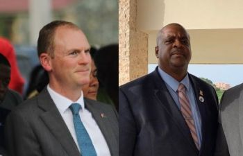 Here in the Virgin Islands, allegations of racism have been levelled against the UK Government, including for backing a controversial Commission of Inquiry into governance called by ex-Governor Augustus J. U. Jaspert, left, who himself was labelled as racist and who was accused of being hugely antagonistic against the Government of the Virgin Islands led by Premier Andrew A. Fahie (R1), right. Photo: VINO/File