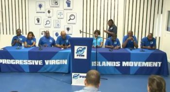 Hon Turnbull made those sentiments, during a press conference at the PVIM's headquarters in Fish Bay, Tortola on Tuesday, February 27, 2019, where he personally thanked party Chairman Mr Skelton for his support. Photo: Facebook