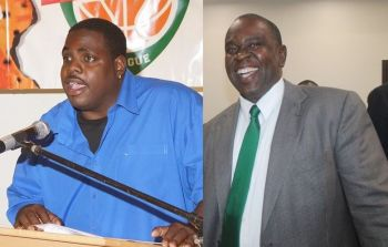 VIP member Mr Rajah A. Smith (left) had made allegations of 'delegate list rigging' prior to the VIP internal elections, however, these were refuted by former President Mr Carvin Malone (right). Photo: VINO/File