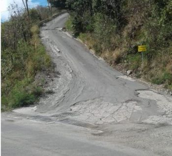 'Elevator Hill', seen here prior to being resurfaced, is regarded as one of the most dangerous roads on Tortola. Photo: VINO/File