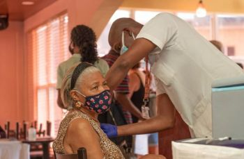 In the Virgin Islands some 7000 persons have been administered a first dose of the AstraZeneca vaccine. The Territory has some 32,000 doses of the vaccine but is struggling to get especially its locals inoculated. Photo: GIS/File