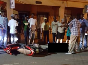 The scene of a shooting in Road Town, Tortola on March 10, 2017: For 2017 there were 10 homicides committed- the highest ever for the tiny British Overseas Territory. Photo: VINO/File