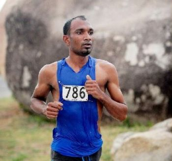 Ravindra Sukhu once again proved too strong for his usual rivals as he comfortably won the Beef Island leg of the Ceres 10K Series this morning, July 13, 2013. Photo: File