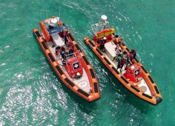 Virgin Islands Search and Rescue (VISAR) has come in for praise following its quick response to a boat fire off Norman Island this morning, July 3, 2017. Photo: VISAR