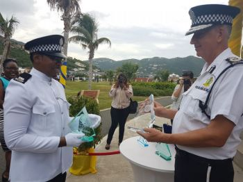 Police Constable 248 Deonarine Persaud received the Commissioner's Award, Best at Police Subjects, Best Recruit and most Disciplined Student at the recent Passing Out Parade. Photo: VINO