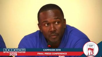 Now Opposition Leader, Hon Marlon A. Penn at the NDP's first press conference on Friday, March 1, 2019, after losing the elections has said the 2019 season was 'the worst.' Photo: Facebook/File