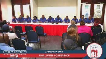 After losing his seat at the polls, Mr Myron V. Walwyn, during the National Democratic Party's (NDP) first press conference post-elections on Friday, March 1, 2019, said he was not going to resign as the NDP Chairman. Photo: Facebook/File