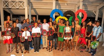 The various athletes with their awards on December 29, 2019. Photo: BVIAA/Facebook