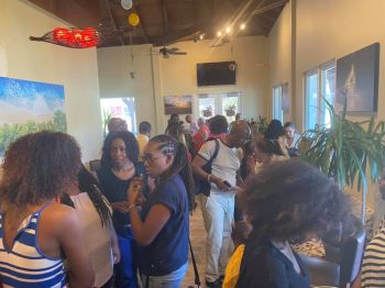 Business persons at the networking session hosted by the BVI Chamber of Commerce and Hotel Association (BVICCHA) on February 10, 2020. Photo: BVICCHA/Facebook