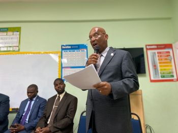 The Community Meeting in North Sound, Virgin Gorda, on February 6, 2020, was called by Ninth District Representative and Minister for Natural Resources and Labour, Honourable Vincent O. Wheatley. Photo: VINO