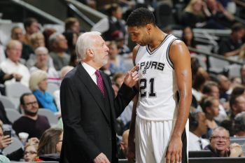 Timothy T. Duncan and coach Gregg C. Popovich won some 5 NBA titles in 6 trips to the finals. Photo: Forbes