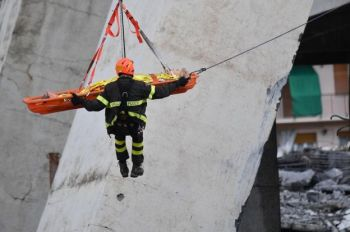 Injured people were winched to safety. Photo: BBC News