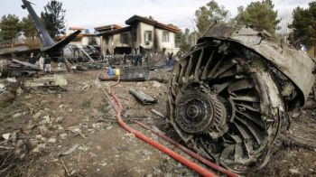 Only the plane's flight engineer is known to have survived. Photo: EPA