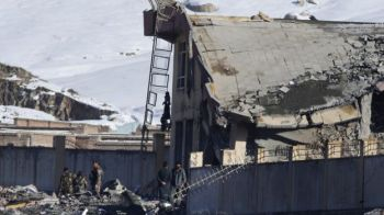 Much of the building's roof collapsed, causing most of the casualties. Photo: BBC/EPA