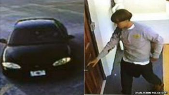 Police issued images from a surveillance camera of the suspect and a vehicle. Photo: Charleston Police Dept