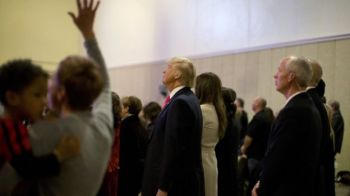 Mr Trump has been courting the evangelical Christian vote in the US. Photo: AP