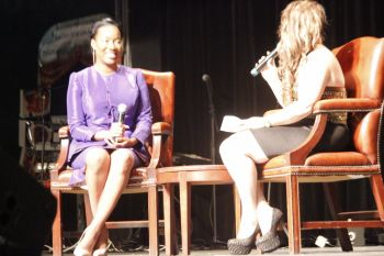 Michelle Parsons during her interview. Photo: VINO