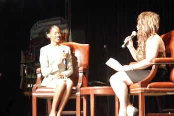 Ashellica Fahie during her interview. Photo: VINO