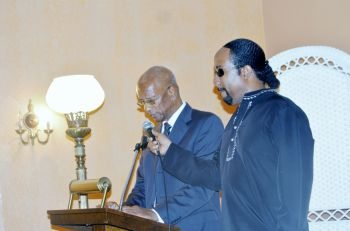 Premier Dr the Honourable D. Orlando Smith speaking at the service. Photo: VINO