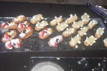 Eclairs presented by Gorvey A. Henry. Photo: VINO