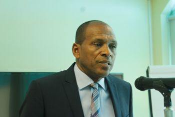 Minister for Communications and Works, Honourable Mark H. Vanterpool (R4) has stated that the VI government is in agreement with pursuing mobile number portability and intends to create a legislation to address the matter. Photo: VINO/File