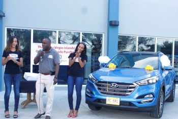 Senior Sales and Marketing Executive at TAG, Gordon U. French said the sale of its 100th vehicle is remarkable achievement for Tortola Auto Group, a new company that started operation officially in November at Slaney Point. Photo: VINO
