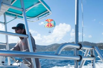 Parasailing BVI has been receiving tremendous positive reviews and is all about taking customers to higher heights and a new kind of fun. Photo: Provided