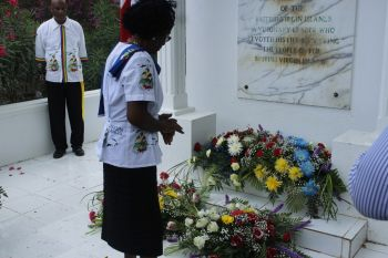 Hon Christian has called for the grave site of H. Lavity Stoutt to become a tourist attraction. Photo: VINO