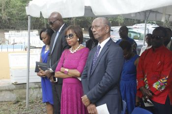Premier Dr The Hon D. Orlando Smith and First Lady Lorna G. Smith at the memorial service. Photo: VINO