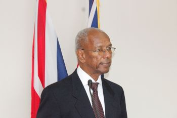 Premier Dr The Honourable D. Orlando Smith (AL) was virtually stripped of his powers as Finance Minister when Governor John S. Duncan OBE exercised Section 103(b) of the Virgin Islands Constitutional Order 2007 to take monies from the Consolidated Fund. Photo: VINO/File
