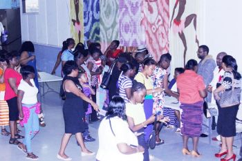 Patrons of the Gospel show flock to get CDs from the international Gospel artistes. Photo: VINO