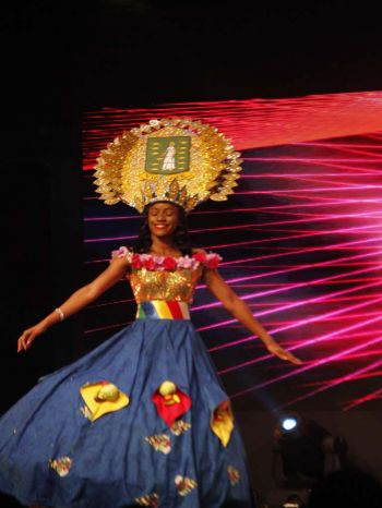 Lean T. Francis, contestant number 5 during the cultural dress segment. Photo: VINO