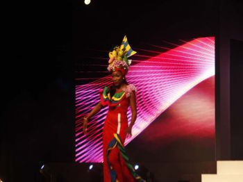 Khephra D. Sylvester, contestant number 6 during the cultural dress segment. Photo: VINO