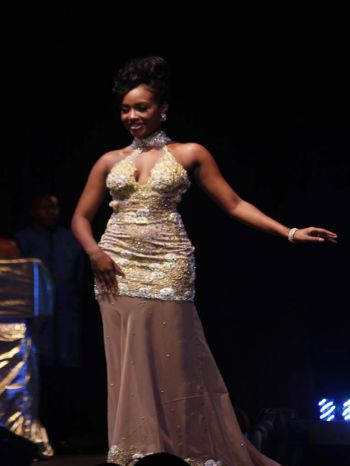 Contestant number two, A'yana K. Phillips in evening wear segment. Photo: VINO