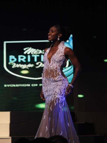 Helina A. Hewlett, contestant number four during evening wear segment. Photo: VINO